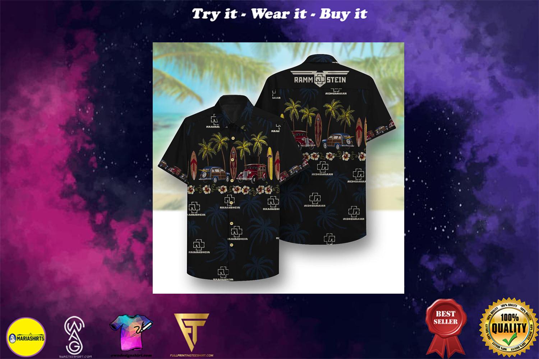 rammstein beach full printing hawaiian shirt - Copy