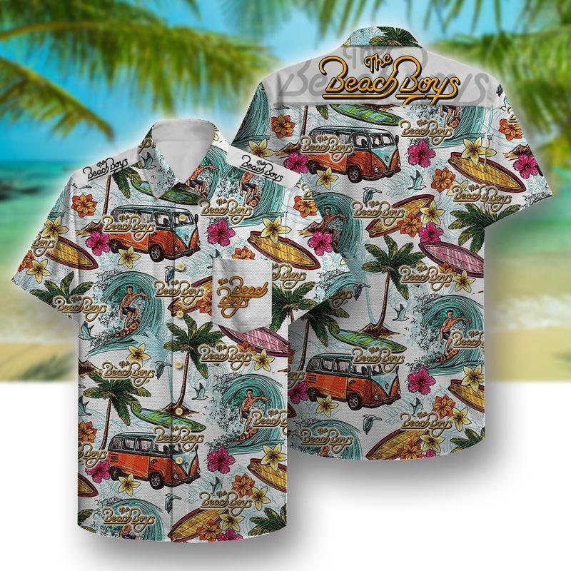 the beach boys aloha tropical full printing hawaiian shirt 1