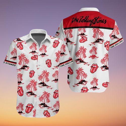 the rolling stones full printing hawaiian shirt 1
