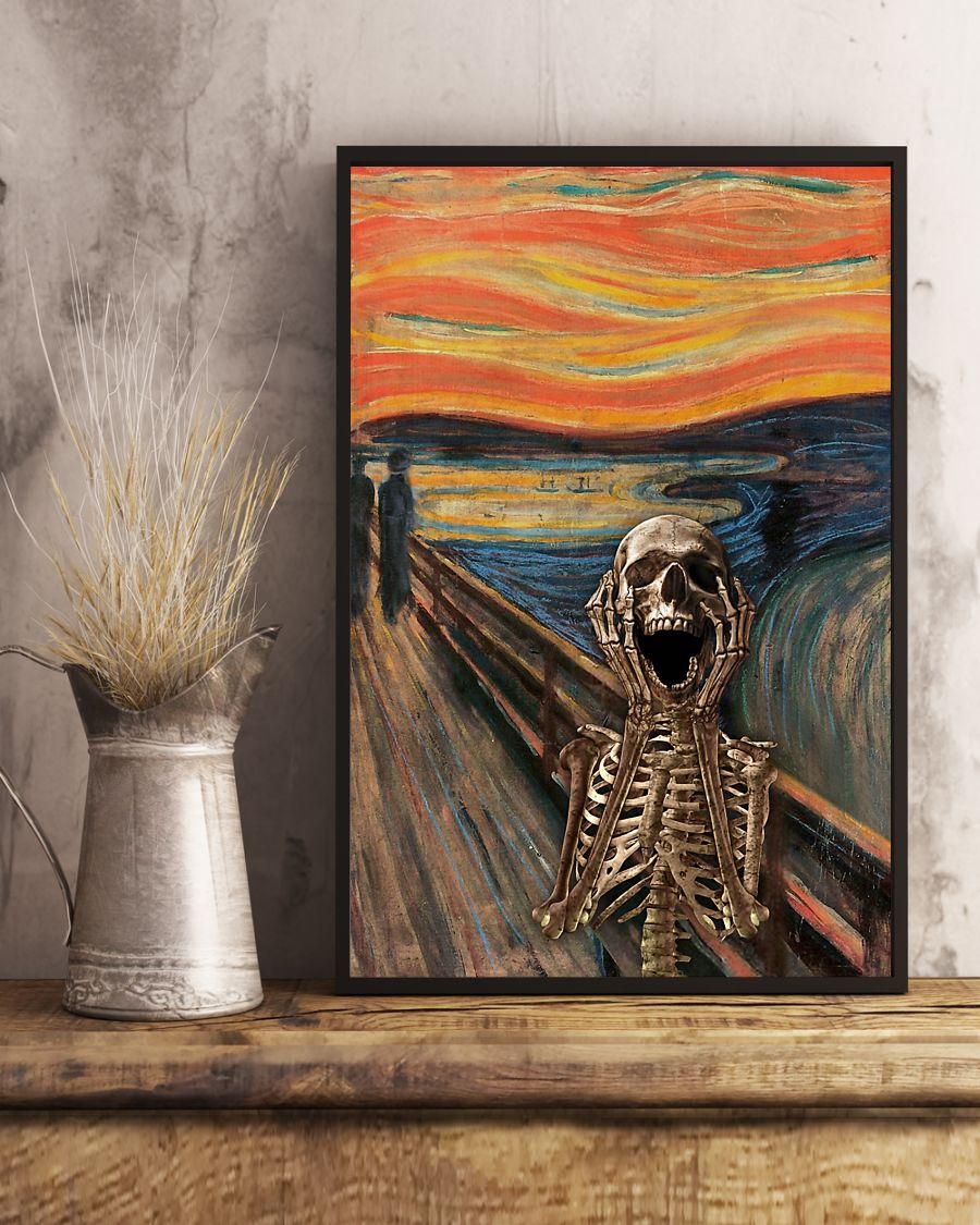 the scream edvard munch skeleton vintage poster 3