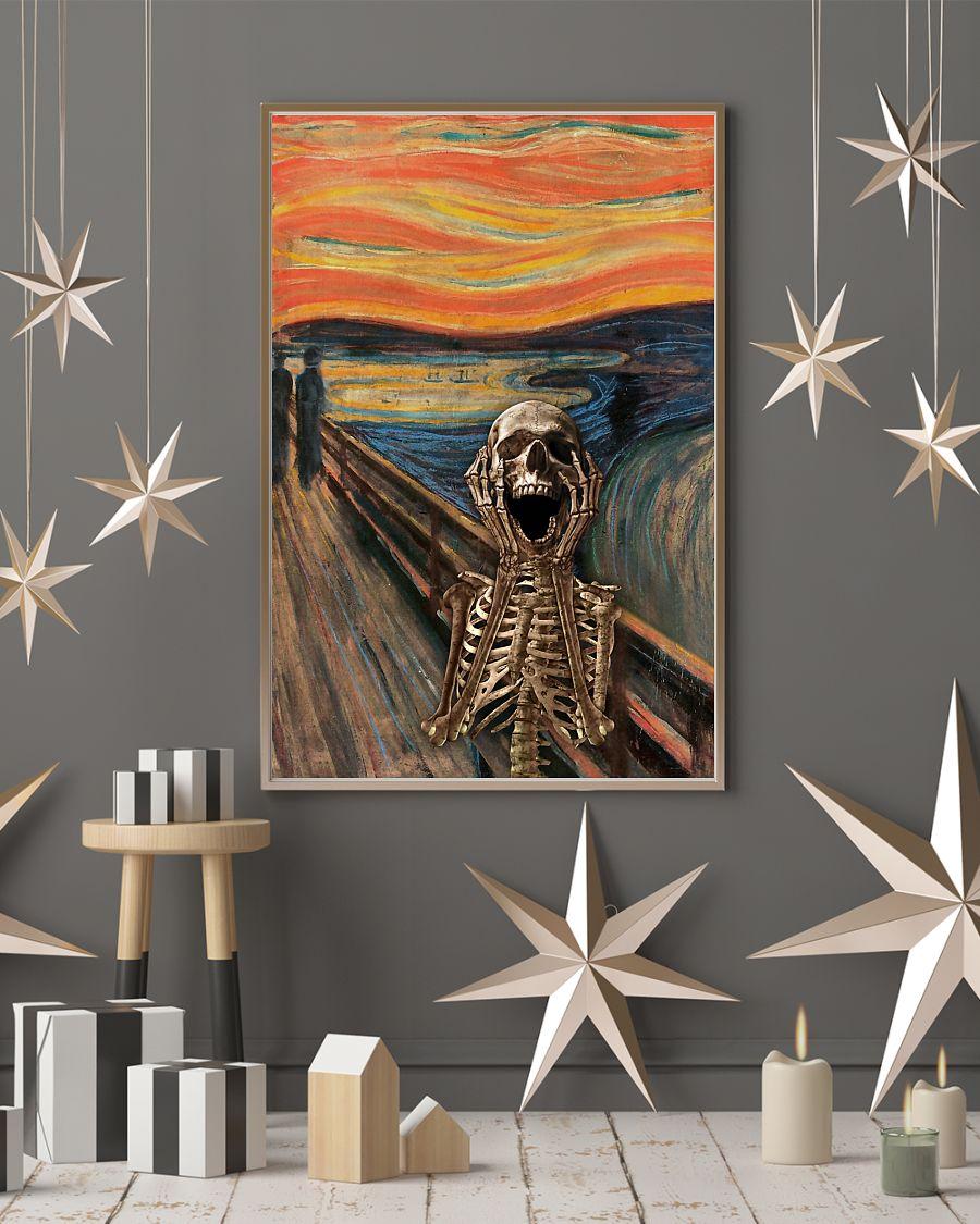 the scream edvard munch skeleton vintage poster 4