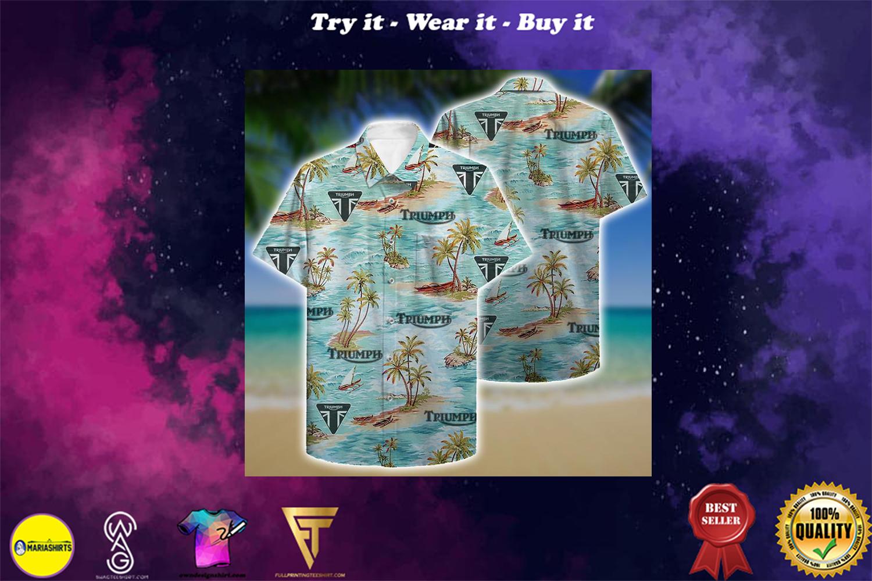 triumph aloha tropical full printing hawaiian shirt - Copy