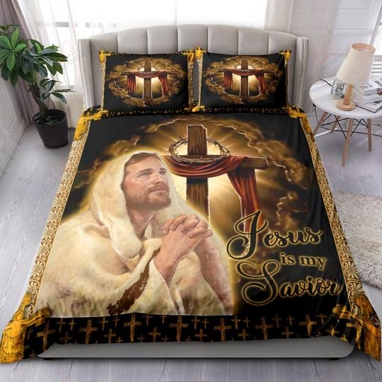 Jesus is my savior bedding set 4