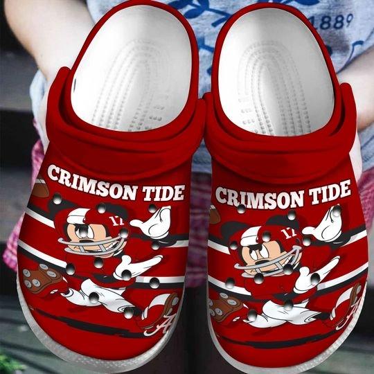 alabama crimson tide mickey mouse crocband clog 1 - Copy (2)