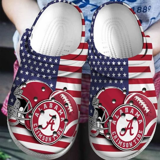 american flag alabama crimson tide football team crocband clog 1 - Copy (2)
