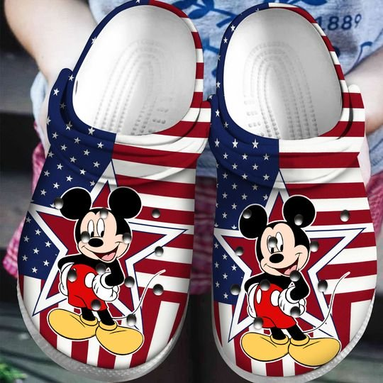 american flag mickey mouse crocband clog 1 - Copy