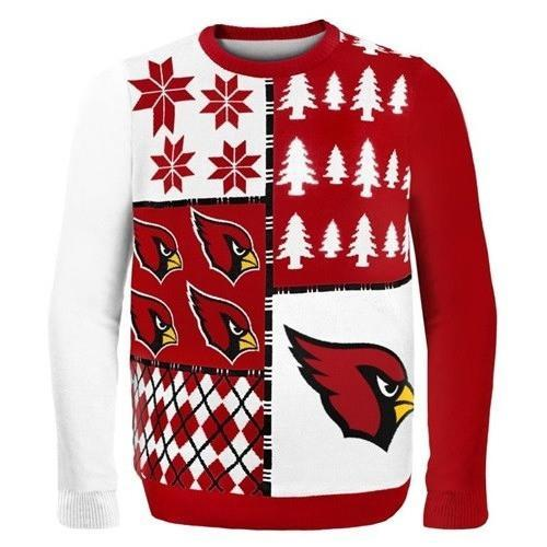 arizona cardinals busy block ugly christmas sweater 1