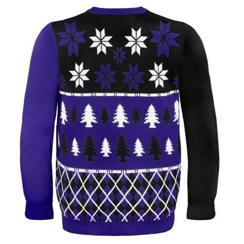 baltimore ravens busy block ugly christmas sweater 3