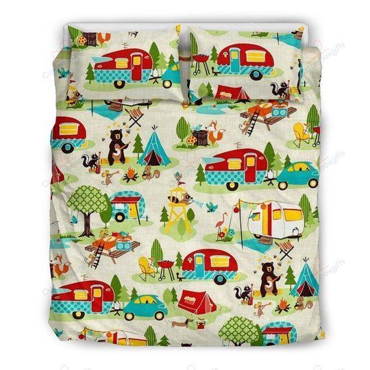 camping lover bedding set 3