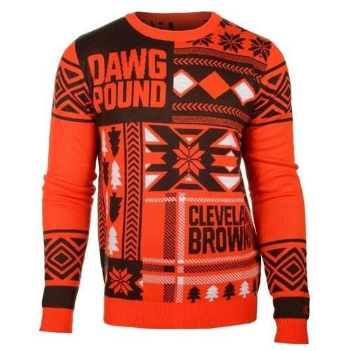 cleveland browns patches ugly christmas sweater 2