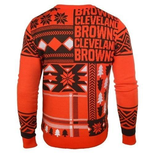 cleveland browns patches ugly christmas sweater 3