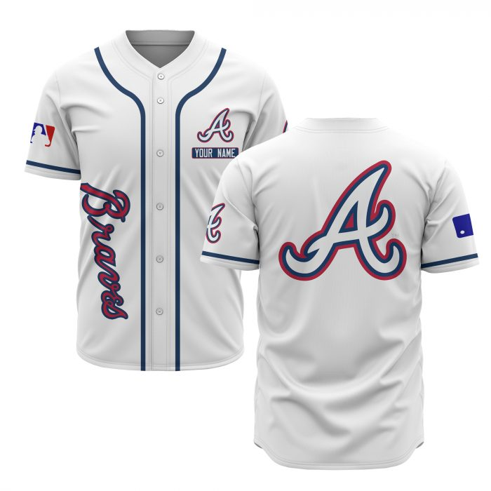 custom name atlanta braves baseball shirt 2