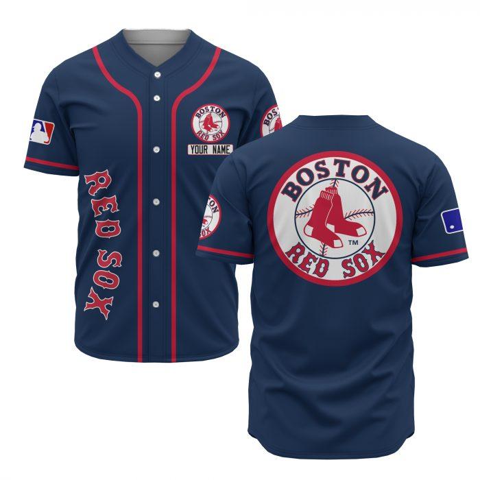 custom name boston red sox baseball shirt 2