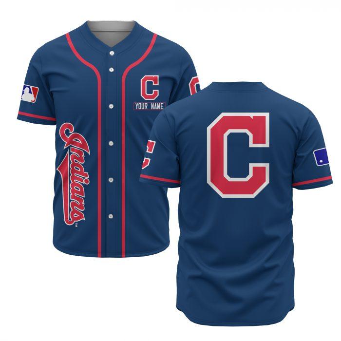 custom name cleveland indians baseball shirt 1