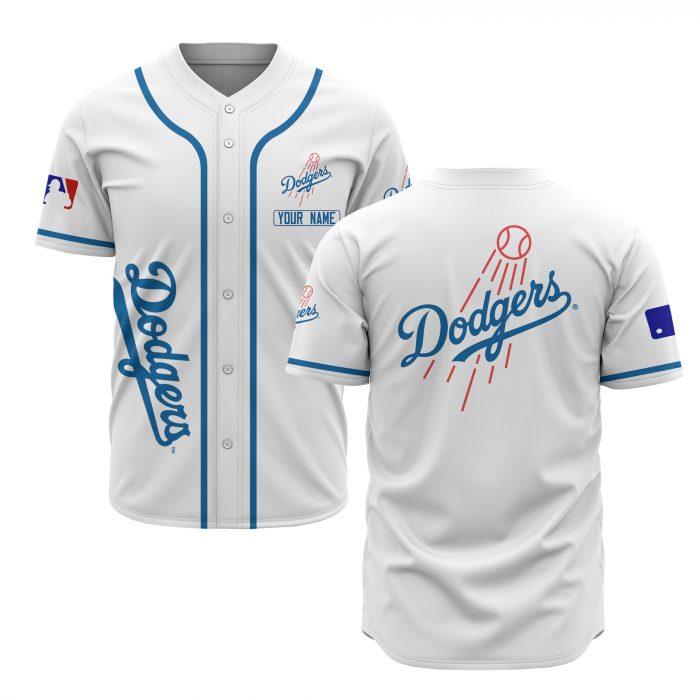 custom name los angeles dodgers baseball shirt 1