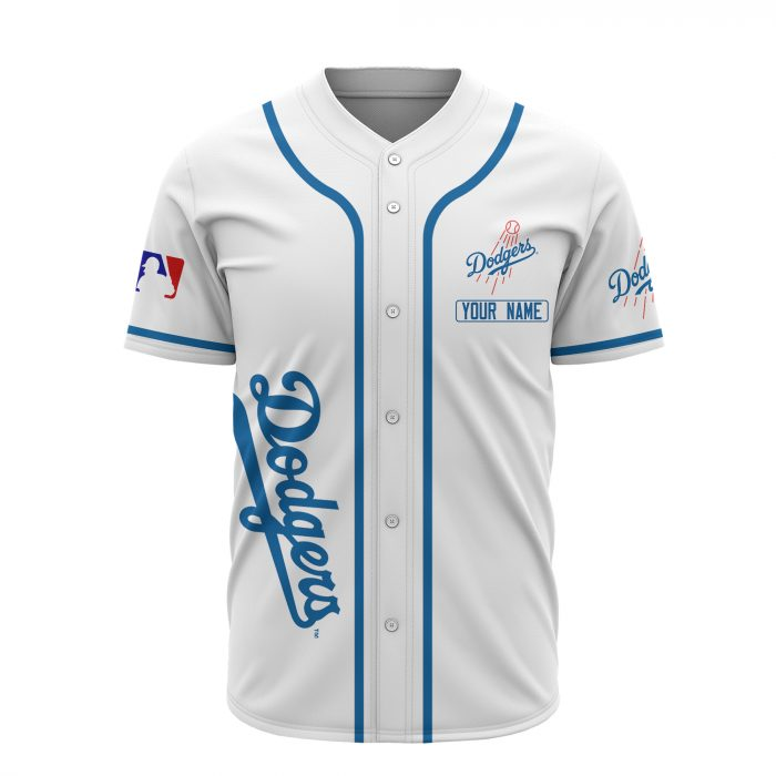 custom name los angeles dodgers baseball shirt 3