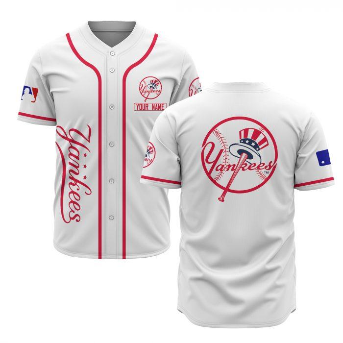 custom name new york yankees baseball shirt 1
