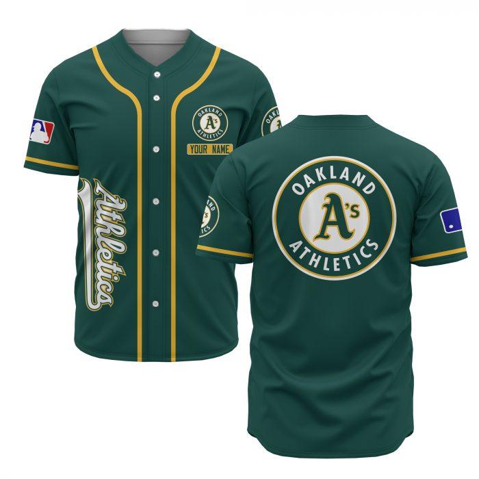 custom name oakland athletics baseball shirt 2