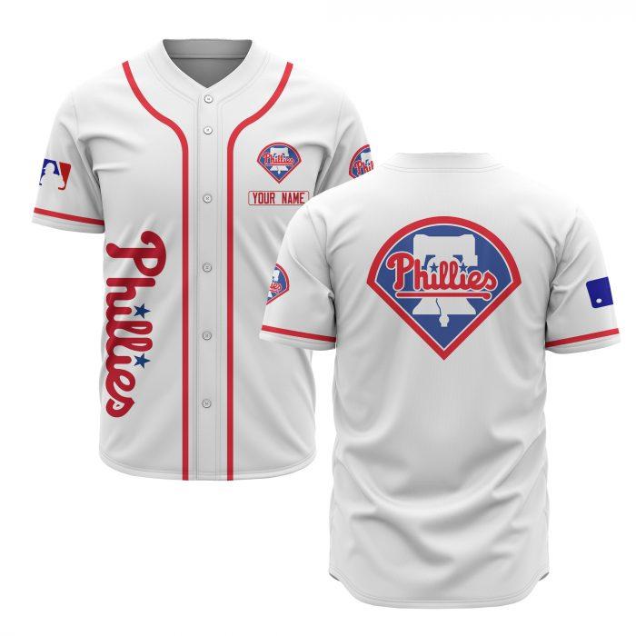 custom name philadelphia phillies baseball shirt 1