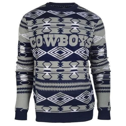 dallas cowboys aztec print ugly christmas sweater 2
