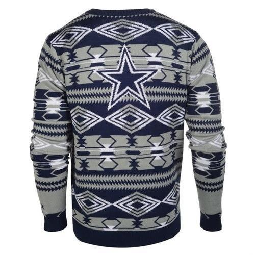 dallas cowboys aztec print ugly christmas sweater 3