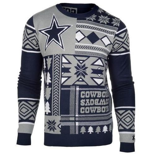dallas cowboys patches ugly christmas sweater 2