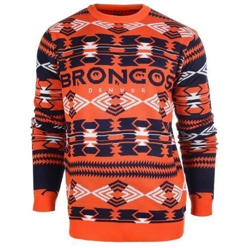 denver broncos aztec print ugly christmas sweater 2