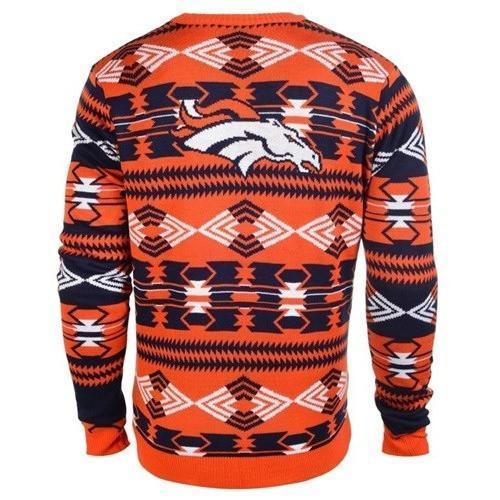 denver broncos aztec print ugly christmas sweater 3