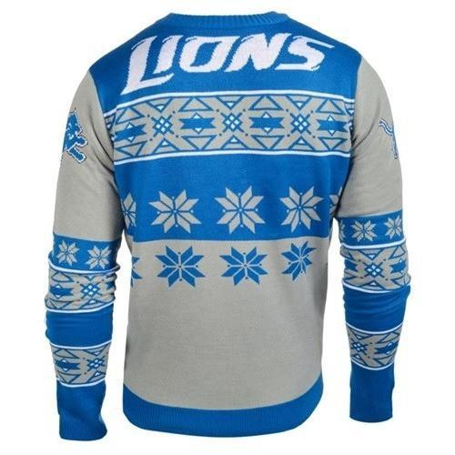 detroit lions national football league ugly christmas sweater 3