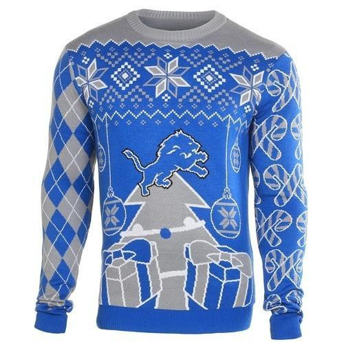 detroit lions ugly christmas sweater 2
