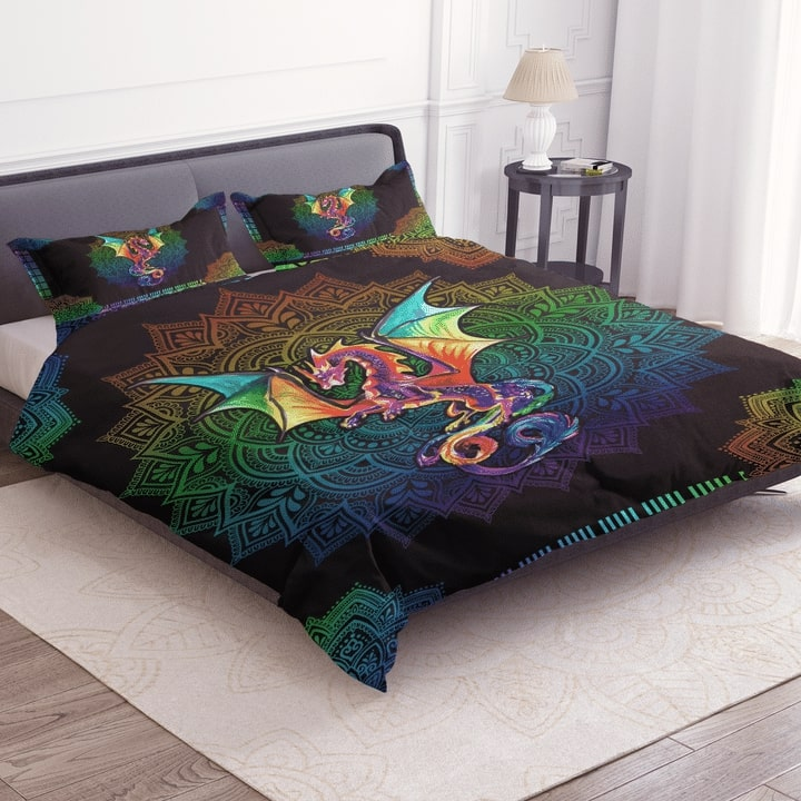 dragon colorful bedding set 3