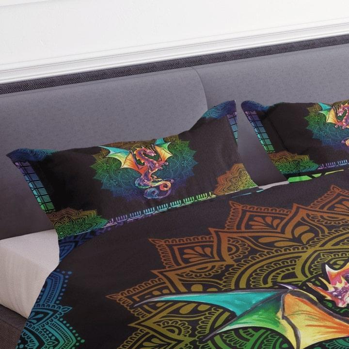 dragon colorful bedding set 4
