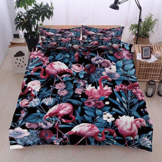 flamingo tropical bedding set 3