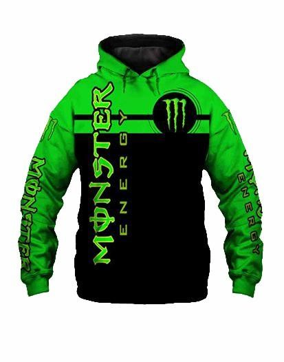 fox racing team and monster energy motocross supercross full printing hoodie