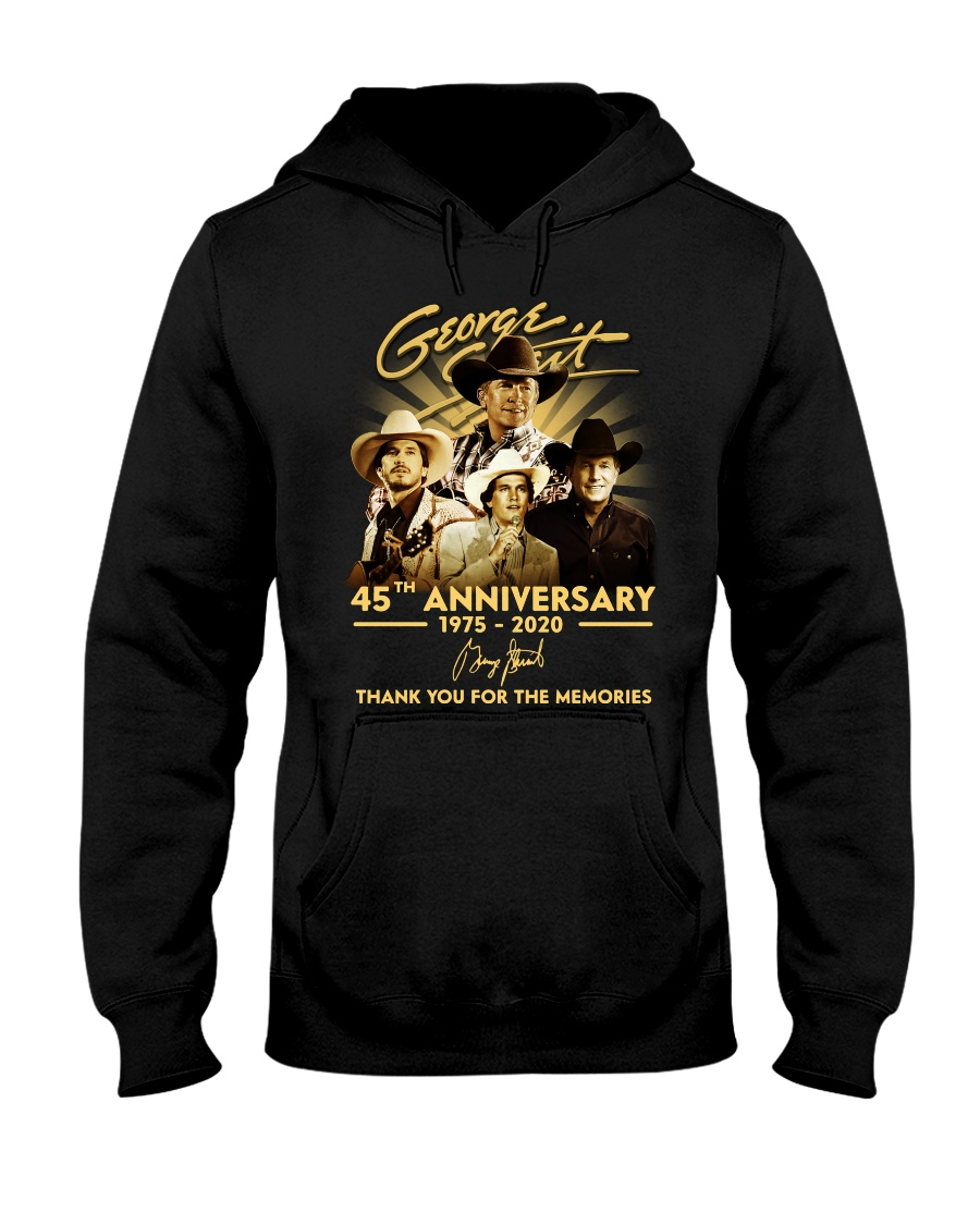 george strait 45th anniversary 1975-2020 thank you for the memories hoodie