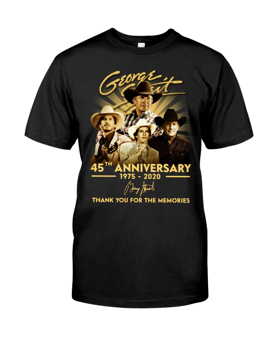 george strait 45th anniversary 1975-2020 thank you for the memories tshirt