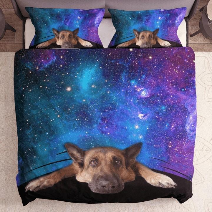 german shepherd galaxy bedding set 1