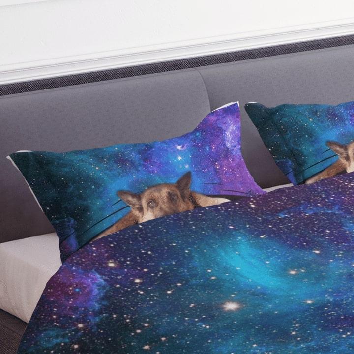 german shepherd galaxy bedding set 4