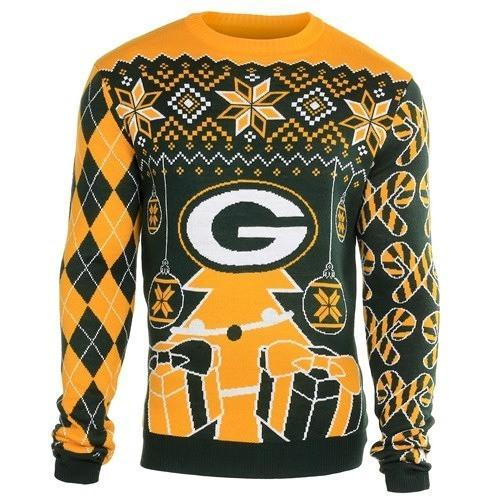 green bay packers holiday ugly christmas sweater 1