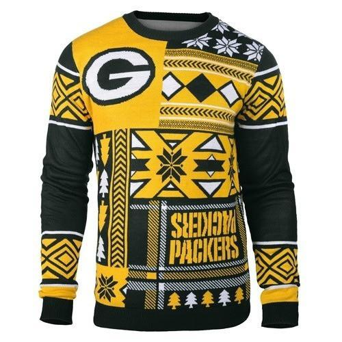 green bay packers patches ugly christmas sweater 2