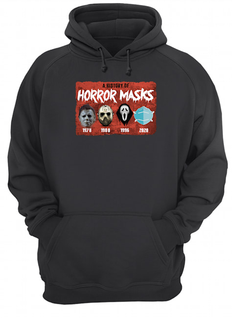 halloween a history of horror masks hoodie