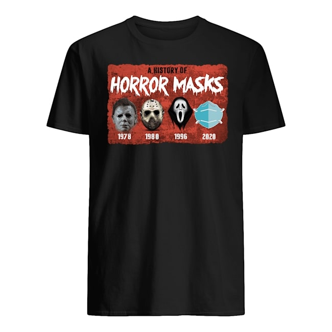 halloween a history of horror masks tshirt