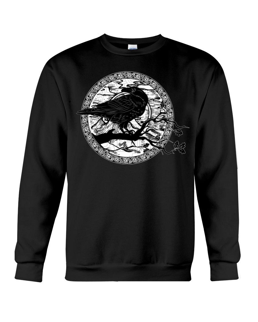 halloween evil raven viking sweatshirt