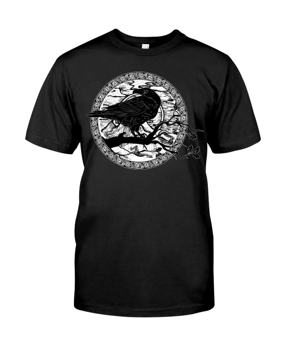 halloween evil raven viking tshirt