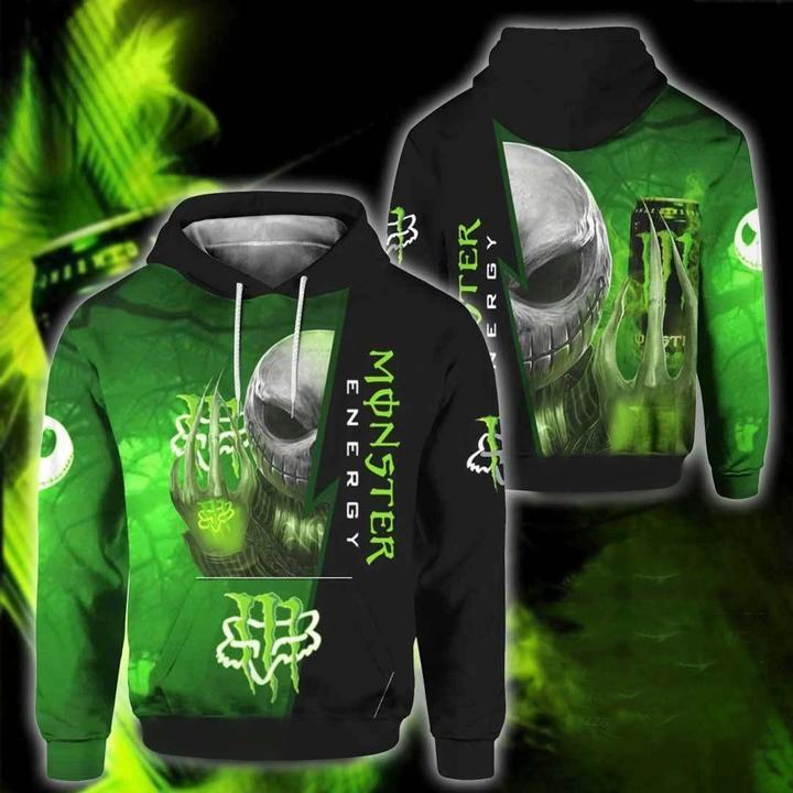 jack skellington monster energy graphic symbol full printing hoodie