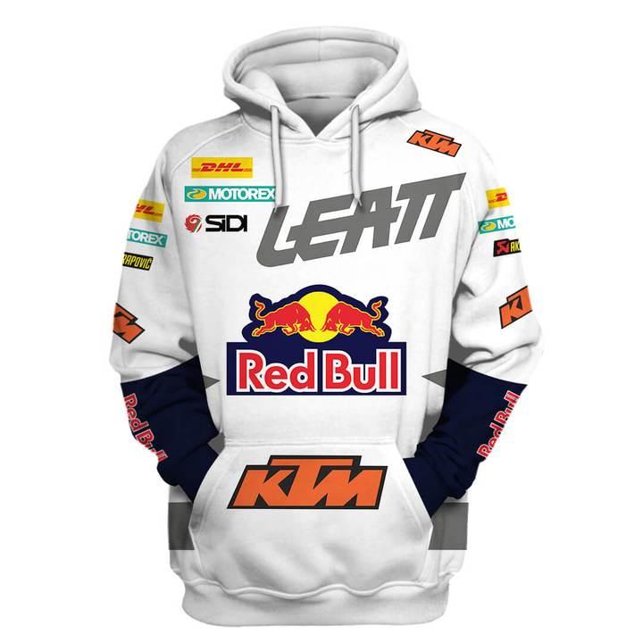 ktm motorex red bull full printing hoodie