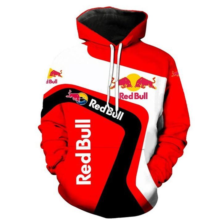 ktm redbull team motorcycle sport riding racing full printing hoodie