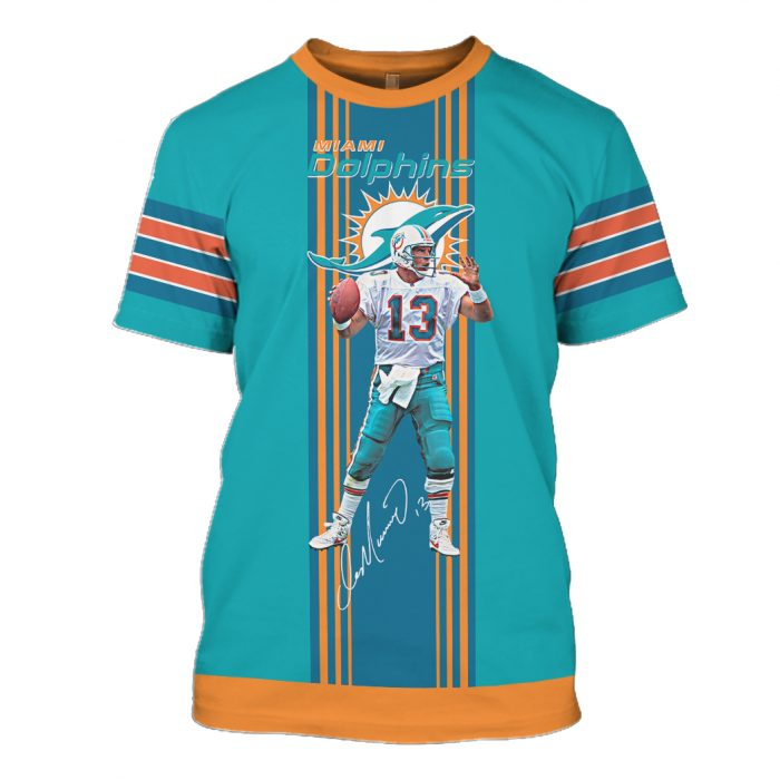 miami dolphins dan marino 13 full over printed tshirt