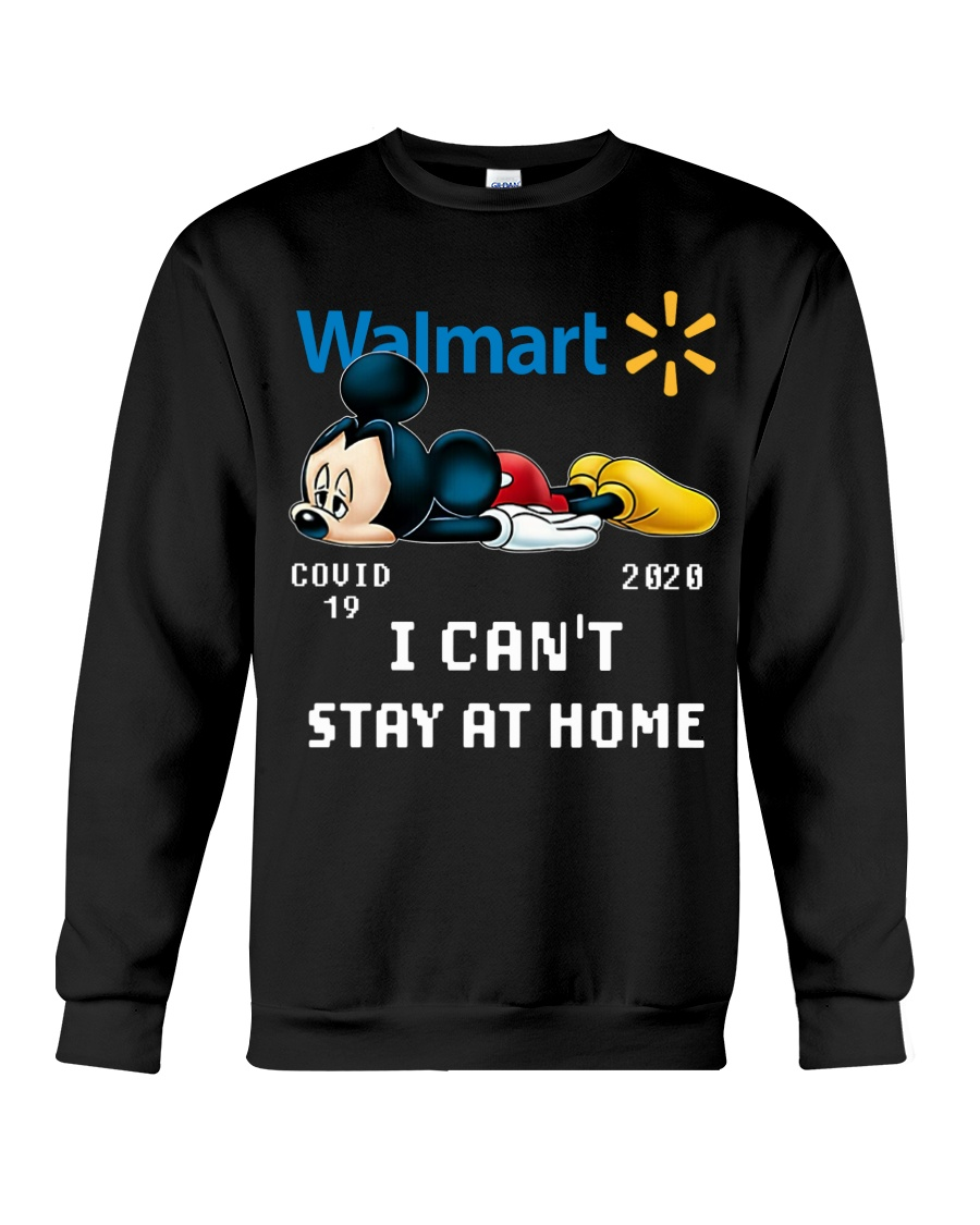 mickey mouse i cant stay home walmart covid 19 20202 sweatshirt