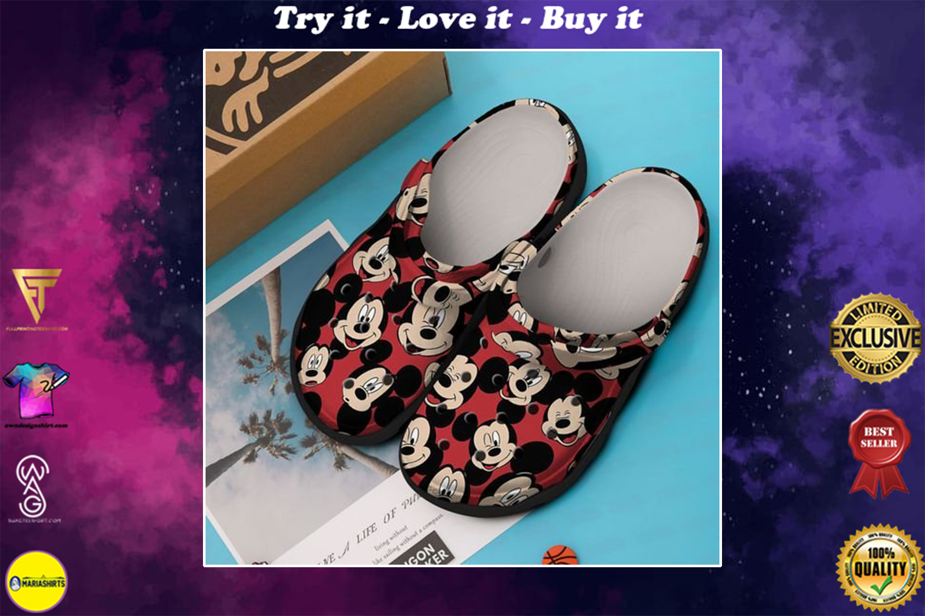 mickey mouse in disneyland crocband clog - Copy